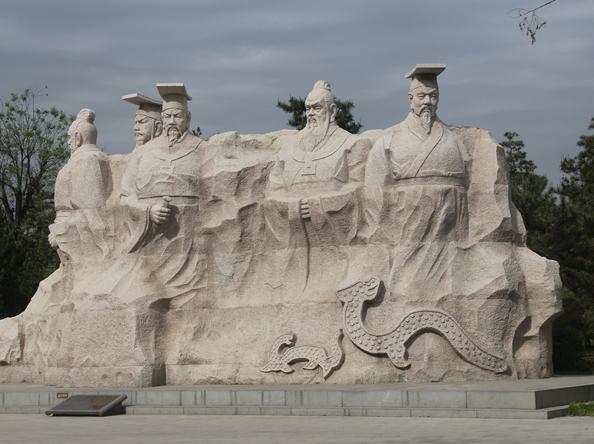 石雕人物群雕