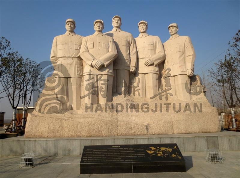 革命伟人群雕《总前委》