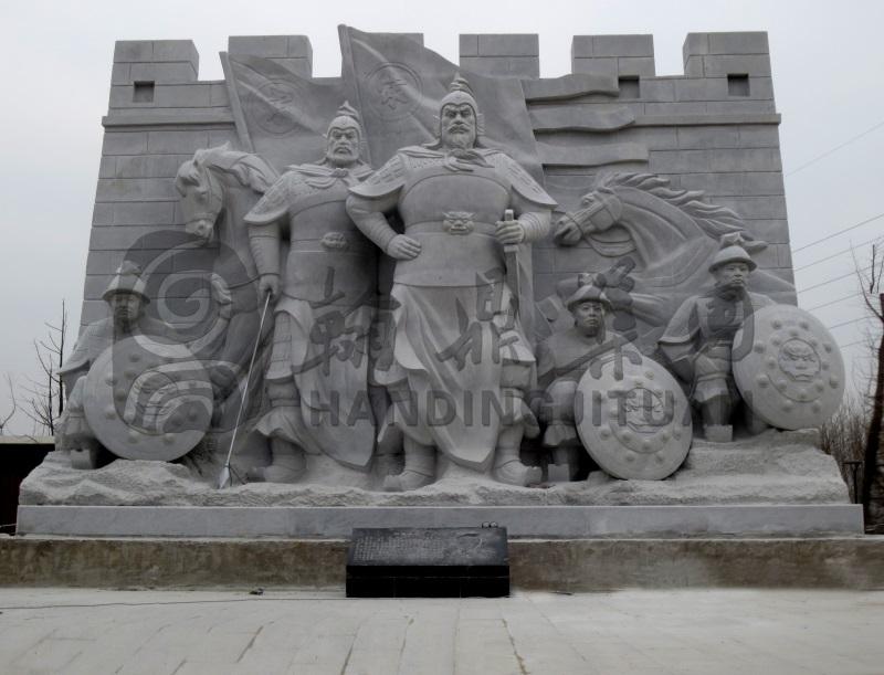 历史人物群雕《符离鏖兵》