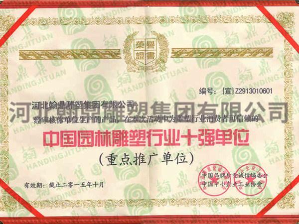 中国园林必威体育官网登录十强企业